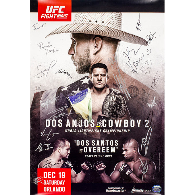 UFC on Fox 17 Orlando Autographed Event Poster