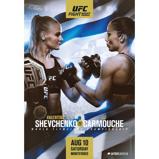UFC Fight Night Uruguay Autographed Poster