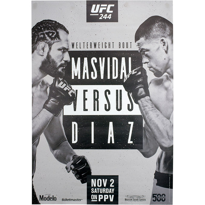 UFC 244 Unsigned Poster