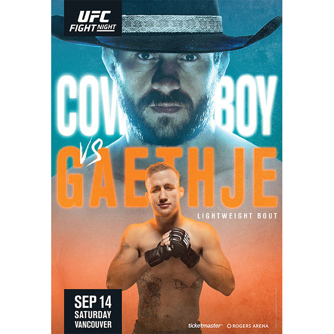 UFC Fight Night Vancouver Autographed Event Poster