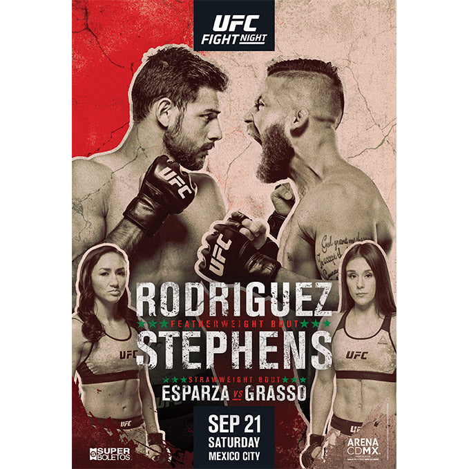 UFC Fight Night Mexico City Autographed Event Poster