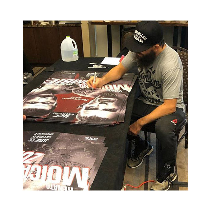 UFC Fight Night Greenville Autographed Poster