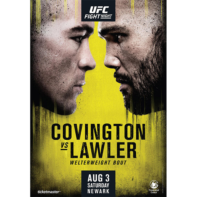 UFC Fight Night Newark Autographed Poster