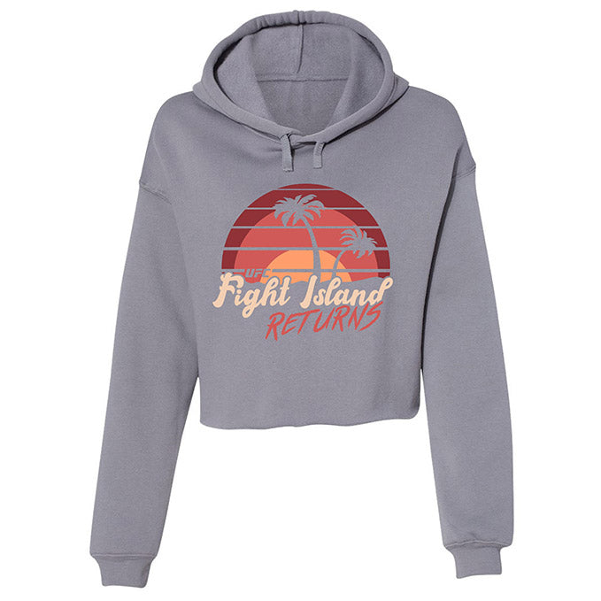 Women's UFC Fight Island Sunset Cropped Hoodie - Storm