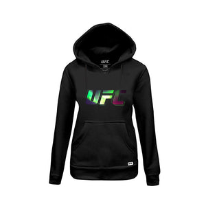 Women's UFC Northern Lights Logo Hoodie-Black