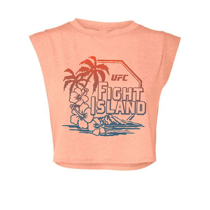 Women's UFC Fight Island Palms Cropped T-Shirt - Sunset