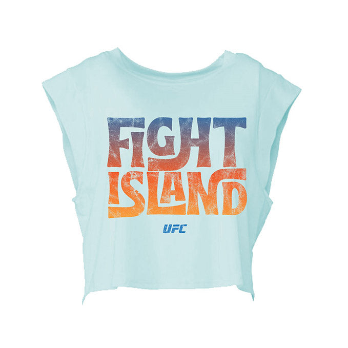 Women's UFC Fight Island Cropped T-Shirt - Light Blue