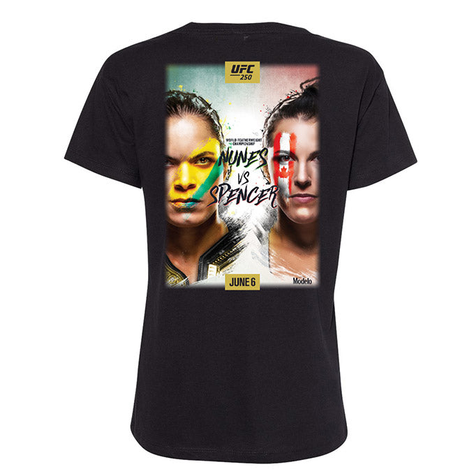Women's UFC 250 Event T-Shirt - Black