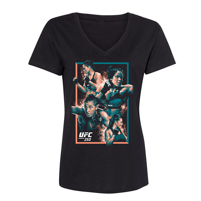 Women's UFC 250 Artist Series Event T-Shirt - Black