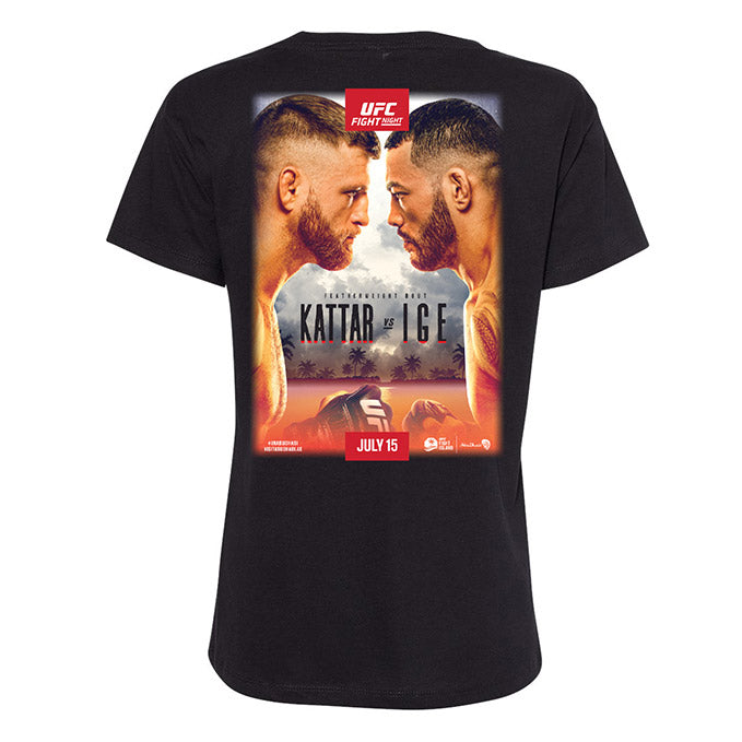 Women's UFC Fight Night Kattar vs Ige Event T-Shirt - Black