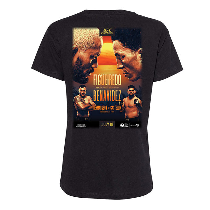 Women's UFC Fight Night Figueiredo vs Benavidez Event T-Shirt - Black