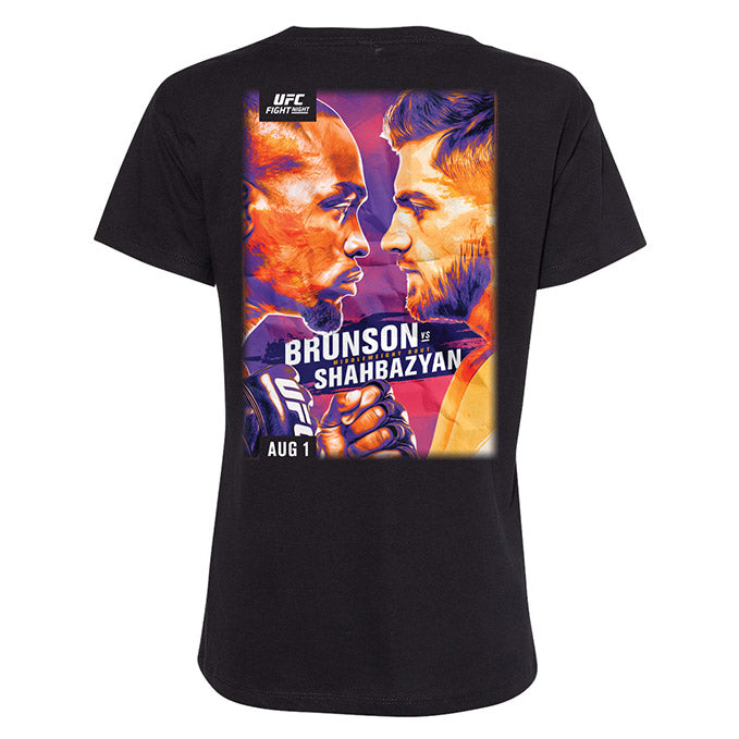 Women's UFC Fight Night Brunson vs Shahbazyan Event T-Shirt - Black