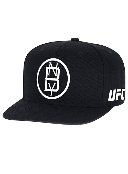 Official Black UFC Fight Night Brooklyn Weigh-In Flat brim Snapback Hat by Reebok