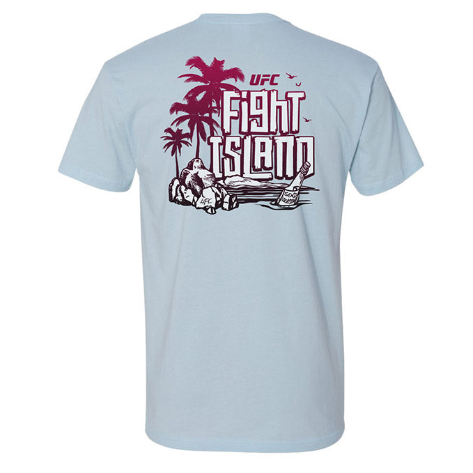 Men's UFC Fight Island Location T-Shirt - Iced Blue