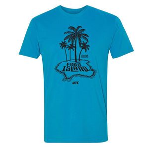 Men's UFC Fight Island Trio Palms T-Shirt - Turquoise