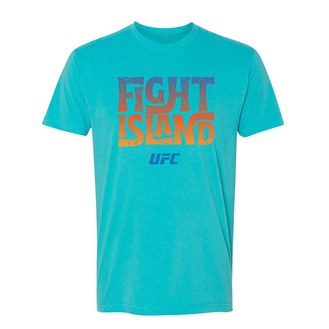 Men's UFC Fight Island 70's Lettering T-Shirt - Blue