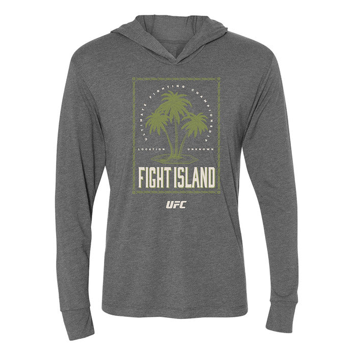 Men's UFC Fight Island Long Sleeve Jersey Hoodie - Grey