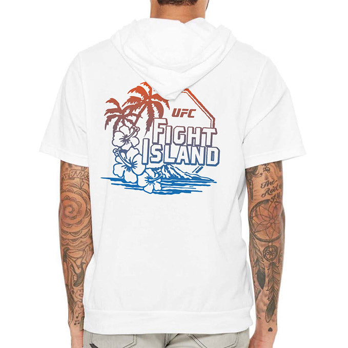 Men's UFC Fight Island Jersey Hooded T-Shirt - White