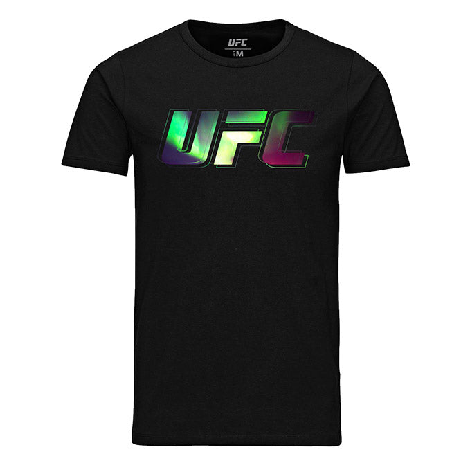 Men's UFC Northern Lights Logo T-Shirt-Black