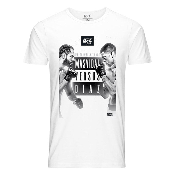 UFC 244 Masvidal vs Diaz Graphic Event T-Shirt - White