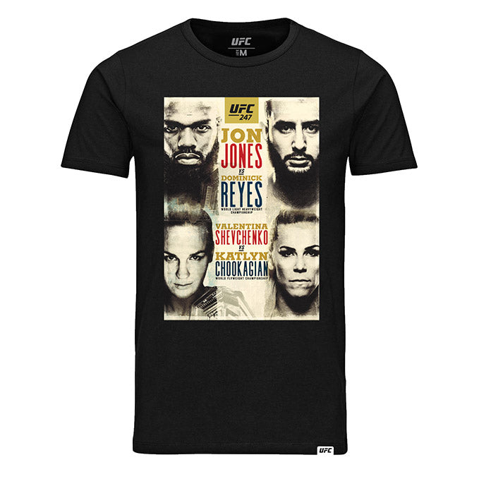 UFC 247 Bones vs Reyes Event T-Shirt - Black