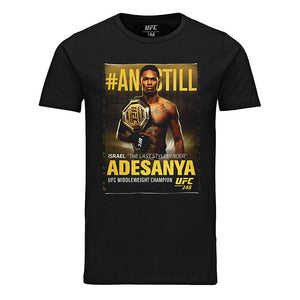 "Men's UFC 248 #ANDSTILL Israel ""The Last Stylebender"" Adesanya Winner's T-Shirt - Black"