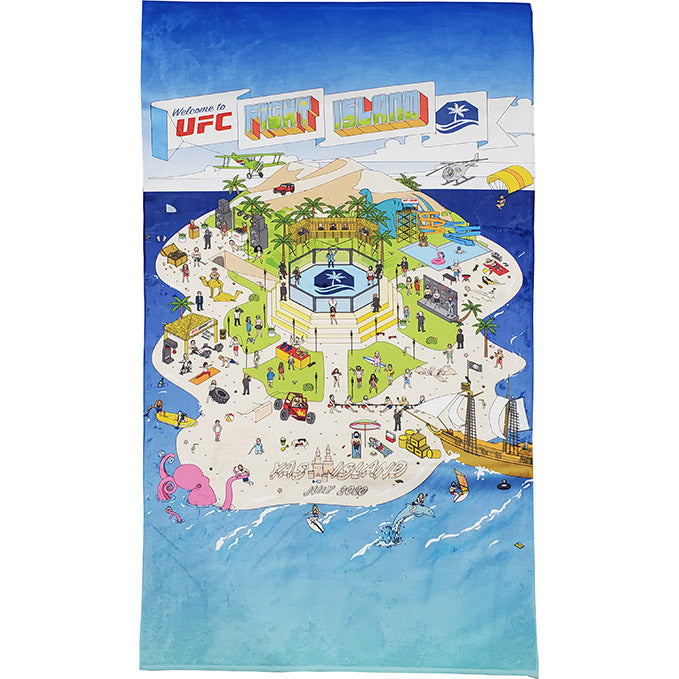 UFC Fight Island Map Collection Beach Towel