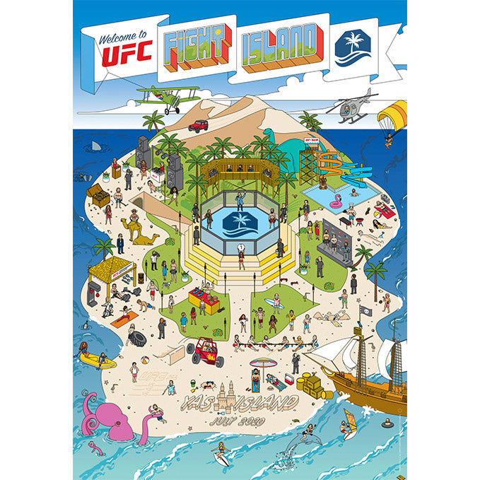 "UFC Fight Island Map Collection 27"" x 39"" Poster"