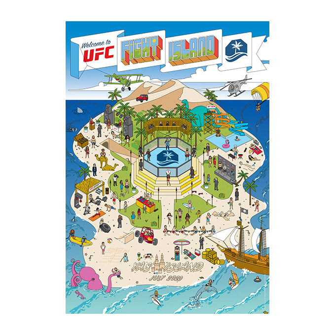 "UFC Fight Island Map Collection 18"" x 24"" Poster"