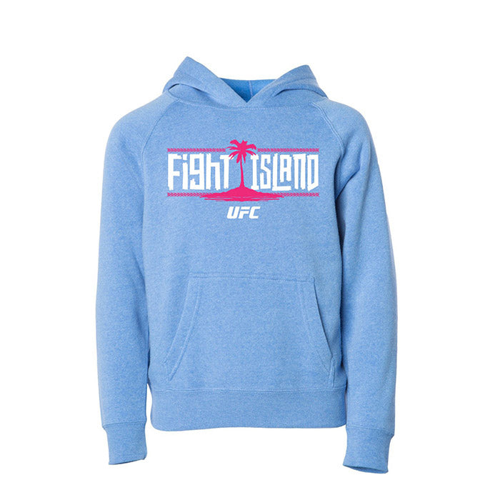Kids' UFC Fight Island Breezy Mid-Weight Hoodie - Light Blue