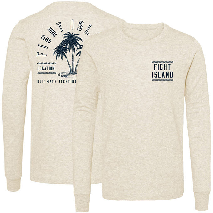 Kids' UFC Fight Island Palm Long Sleeve T-Shirt - Sand