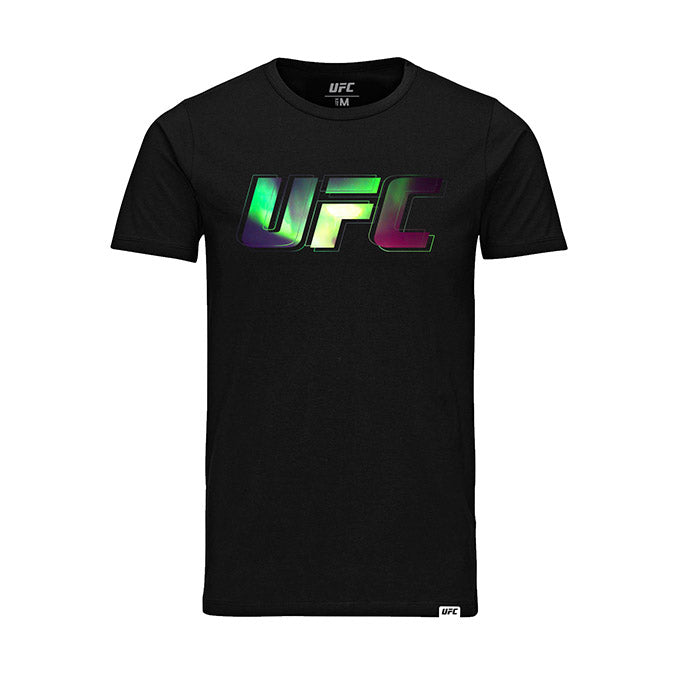 Kid's UFC Northern Lights Logo T-Shirt-Black