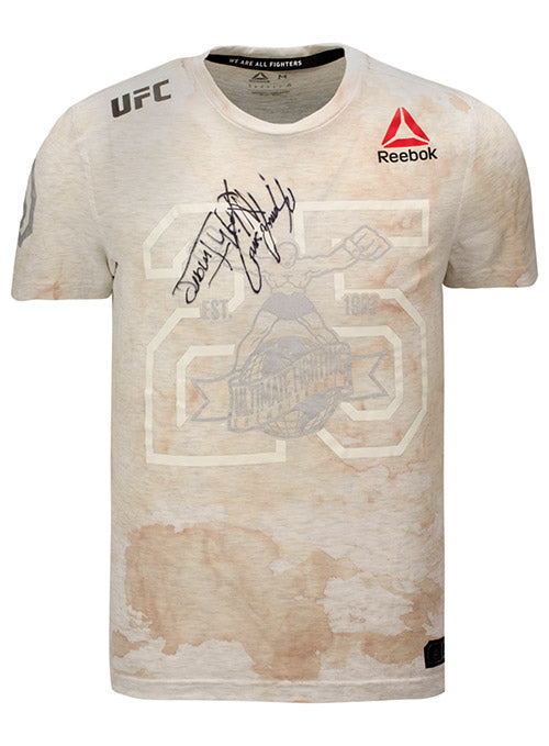 Kamaru Usman Autographed UFC Event Worn Jersey The Ultimate Fighter Finale Heavy Hitters