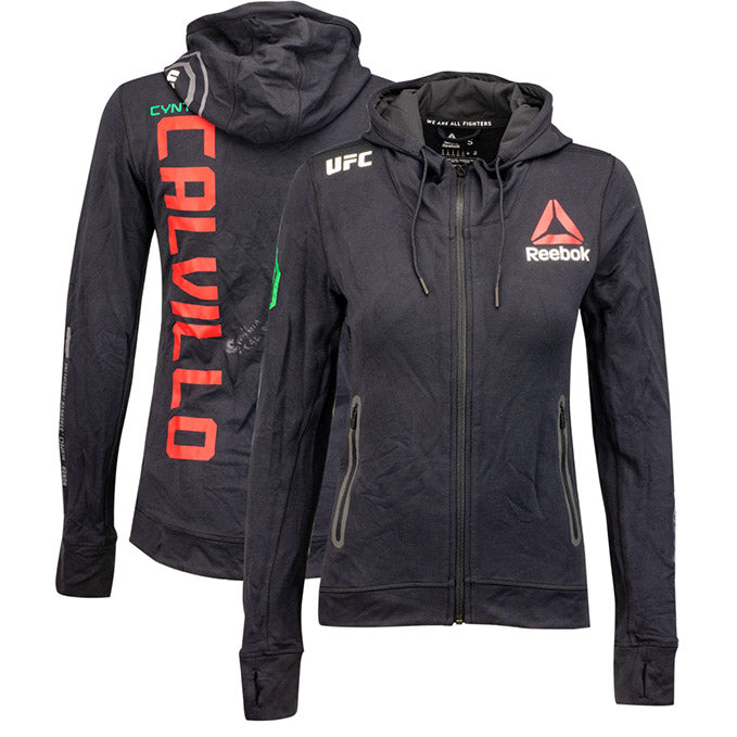 Cynthia Calvillo Autographed UFC Event Worn Hoodie Buenos Aires Argentina