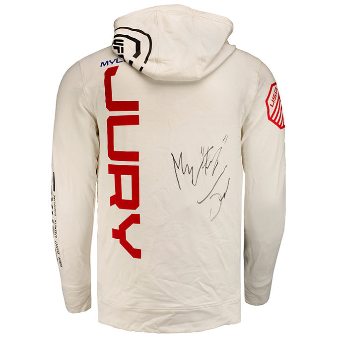 Myles Jury Autographed UFC Event Worn Hoodie Fight Night Phoenix AZ