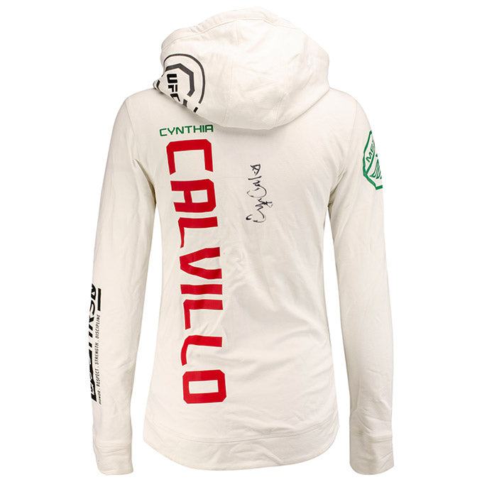 Cynthia Calvillo Autographed UFC Event Worn Hoodie Fight Night Phoenix AZ