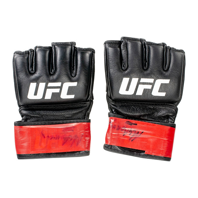 Michel Prazeres Autographed UFC Event Worn Gloves Fight Night Prague Czech Republic