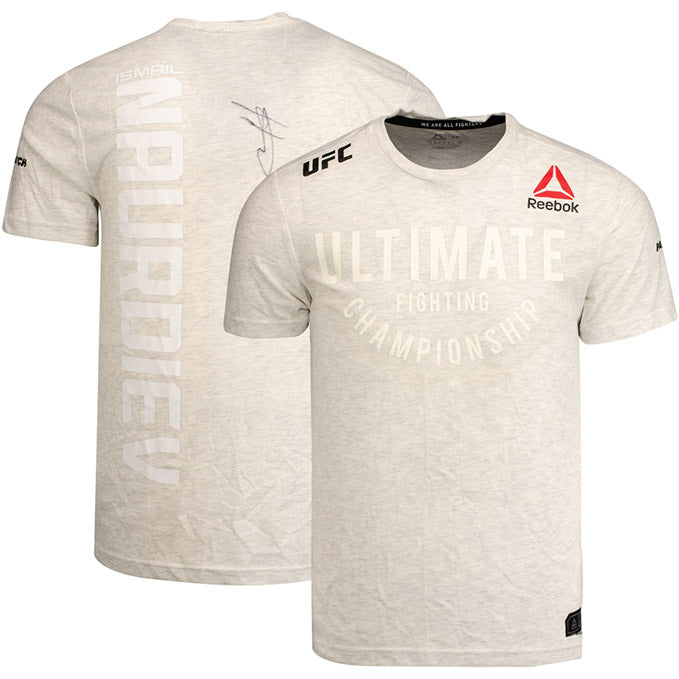 Ismail Naurdiev Autographed UFC Event Worn Jersey Fight Night Prague Czech Republic