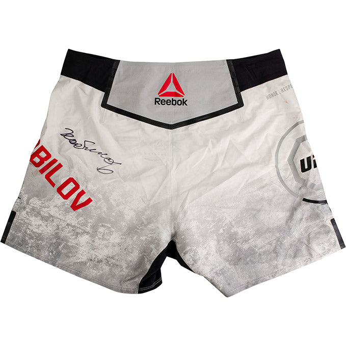 Rustam Khabilov Autographed UFC Event Worn Shorts Fight Night Prague Czech Republic