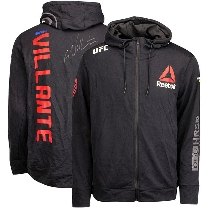 Gian Villante Autographed UFC Event Worn Hoodie Fight Night Prague Czech Republic