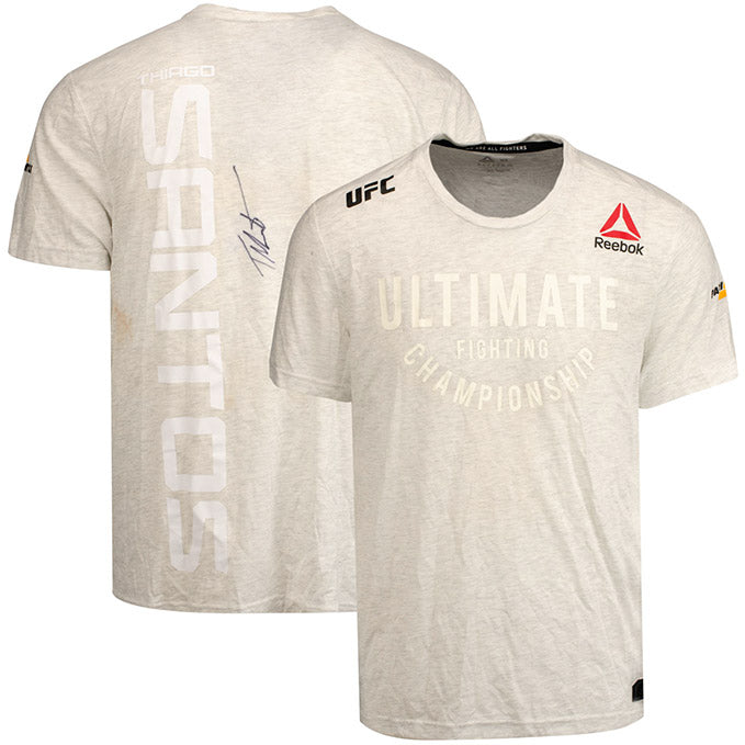 Thiago Santos Autographed UFC Event Worn Jersey Fight Night Prague Czech Republic
