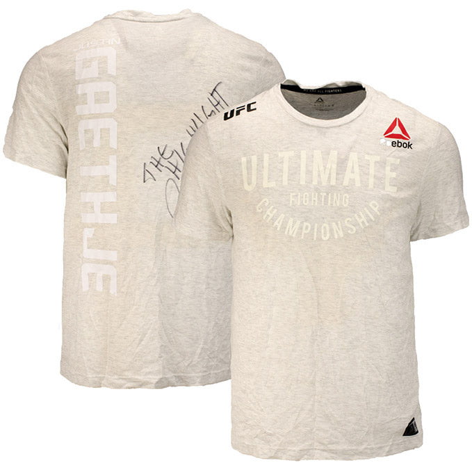 Justin Gaethje UFC Event Worn Jersey Fight Night Philadelphia