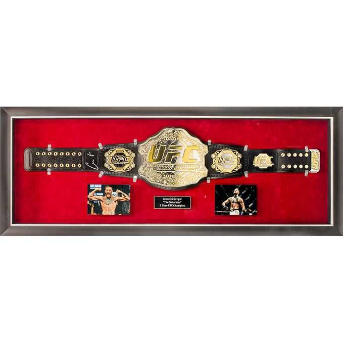 Conor McGregor Signed Belt Framed