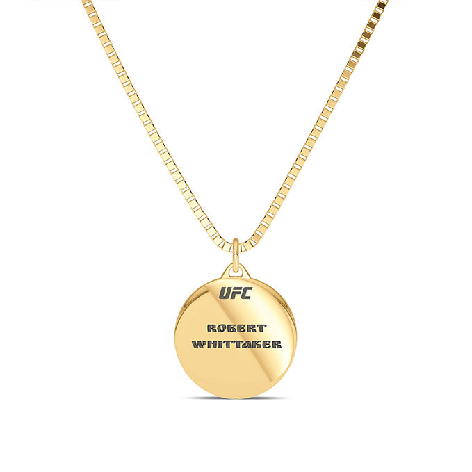 "UFC Robert ""The Reaper"" Whittaker Pendant in 14K Yellow Gold"