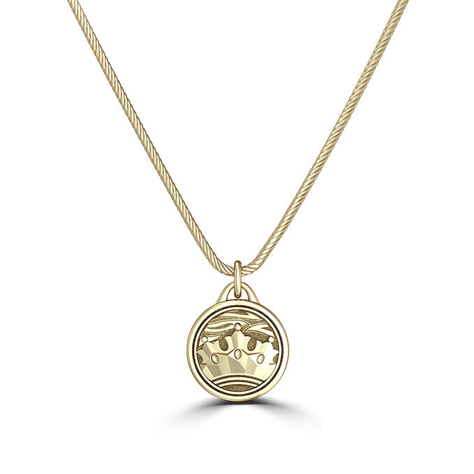 "UFC Conor ""The Notorious"" McGregor Crown Pendant in 14K Yellow Gold"