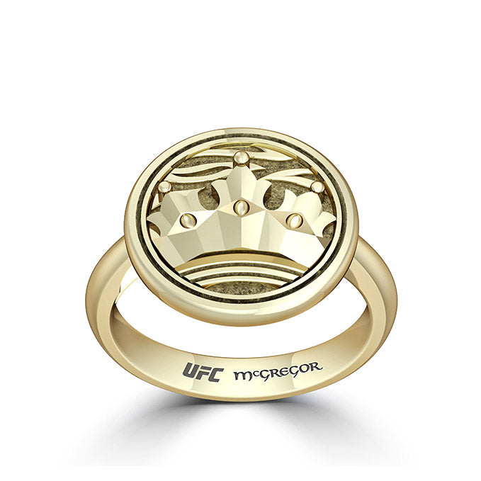 "UFC Conor ""The Notorious"" McGregor Crown Ring in 14K Yellow Gold"