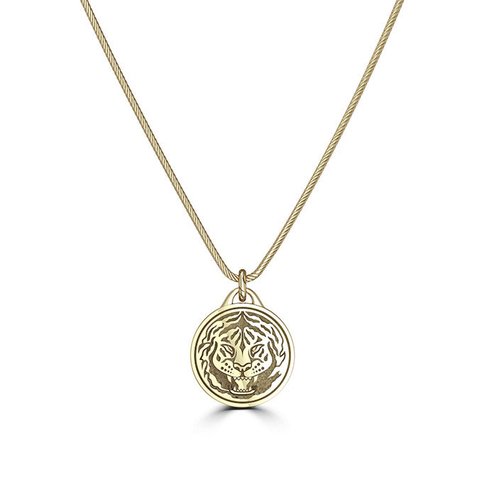 "UFC Conor ""The Notorious"" McGregor Tiger Pendant in 14K Yellow Gold"