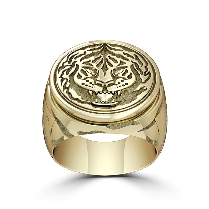 "UFC Conor ""The Notorious"" McGregor Tiger Ring in 14K Yellow Gold"
