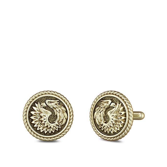 "UFC Khabib ""The Eagle"" Nurmagomedov Cuff Links in 14K Yellow Gold"