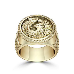 "UFC Khabib ""The Eagle"" Nurmagomedov Large Ring in 14K Yellow Gold"
